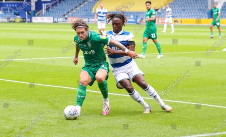 Josh Windass of Sheffield Wednesday & Osman Kakay of QPR