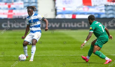Osman Kakay of QPR & Kadeem Harris of Sheffield Wednesday