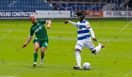 Eberechi Eze of QPR  & Barry Bannan of Sheffield Wednesday