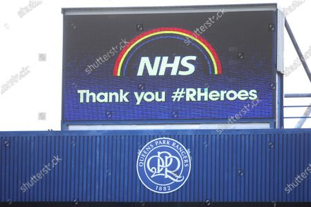 NHS thank you - #rheroes on big screen