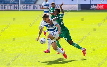 Ryan Manning of QPR & Moses Odubajo of Sheffield Wednesday