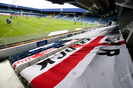 QPR supporters' flags on seats