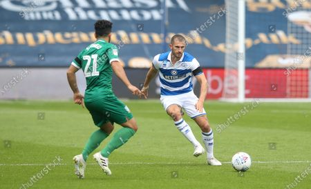 Dominic Ball of QPR passes past Massimo Luongo of Sheffield Wednesday