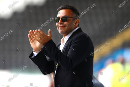 Leeds United chairman Andrea Radrizzani celebrates his sides first goal