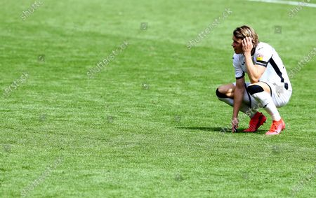 Conor Gallagher of Swansea City shows a look of dejection at full time