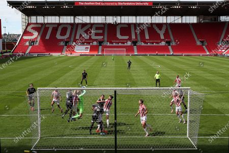 A general view of play during the match