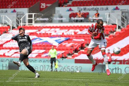 Caolan Boyd-Munce of Birmingham City shoots at goal
