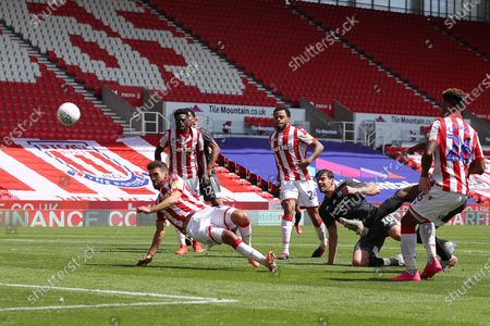 Lukas Jutkiewicz of Birmingham City shoots at goal