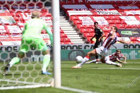 Maxime Colin of Birmingham City shoots at goal