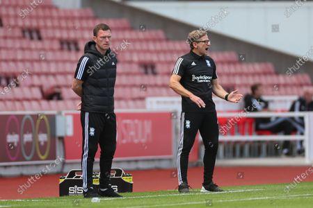 Birmingham City coaches Craig Gardner and Steve Spooner