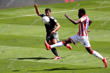 Maxime Colin of Birmingham City and Bruno Martins Indi of Stoke City