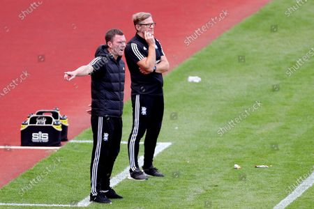 Birmingham City Coaches Steve Spooner and Craig Gardner