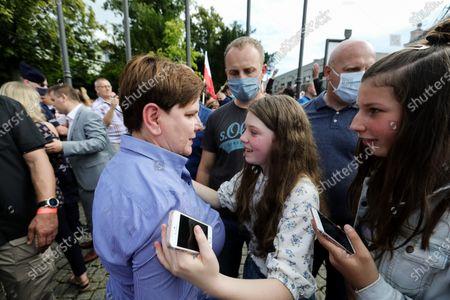 Editorial image of Andrzej Duda campaigns in Wieliczka, Poland - 09 Jul 2020