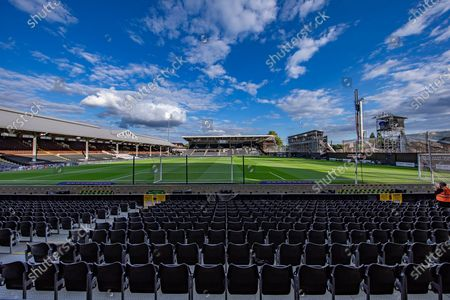 General view of the Craven Cottage stadium ahead of the EFL Sky Bet Championship match between Fulham and Cardiff City at Craven Cottage, London