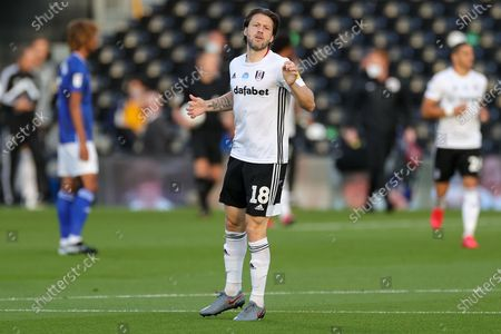Fulham midfielder Harry Arter (18) during the EFL Sky Bet Championship match between Fulham and Cardiff City at Craven Cottage, London
