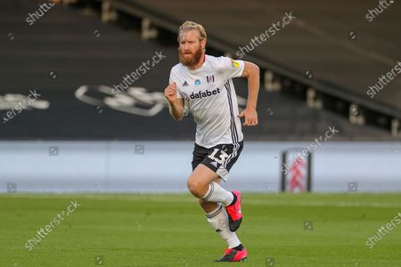 Fulham defender Tim Ream (13) during the EFL Sky Bet Championship match between Fulham and Cardiff City at Craven Cottage, London