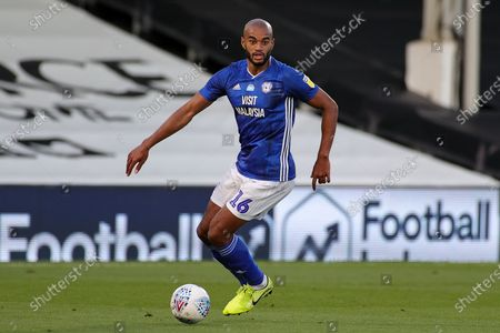 Cardiff City defender Curtis Nelson (16) during the EFL Sky Bet Championship match between Fulham and Cardiff City at Craven Cottage, London