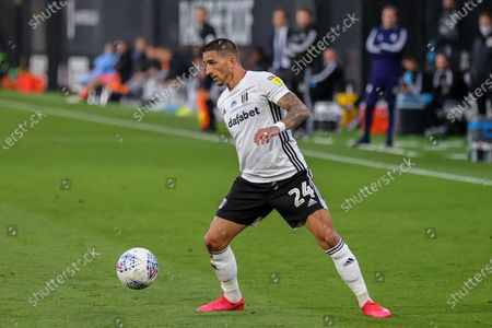 Fulham midfielder Anthony Knockaert (24) during the EFL Sky Bet Championship match between Fulham and Cardiff City at Craven Cottage, London