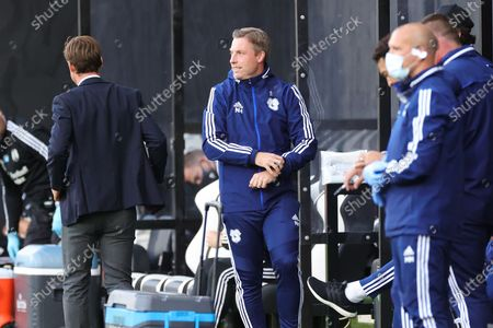 Cardiff City Manager Neil Harris during the EFL Sky Bet Championship match between Fulham and Cardiff City at Craven Cottage, London