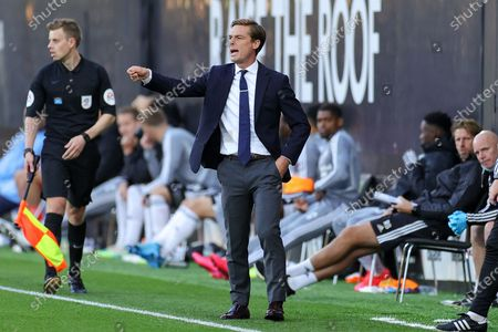 Fulham Head Coach Scott Parker  during the EFL Sky Bet Championship match between Fulham and Cardiff City at Craven Cottage, London