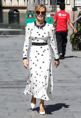 Amanda Holden seen departing the Global Radio Studios