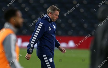 Cardiff City Manager Neil Harris at half time.