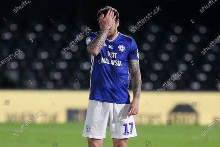 Dejected Lee Tomlin of Cardiff City.