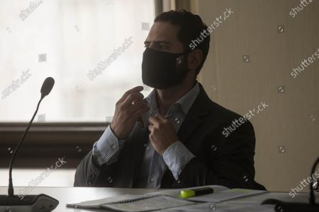 Stock Photo of Luis Enrique Martinelli, son of former Panamanian President Ricardo Martinelli, attends a hearing where a court will announce the reason for his detention in Guatemala City, Guatemala, 10 July 2020. The Martinelli brothers, Luis Enrique and Ricardo Alberto Martinelli Linares, sons of former President of Panama, remain in the preventive prison of zone 17, inside the Mariscal Zavala military barracks, and could be extradited to the United States. They were detained Monday at La Aurora International Airport, in Guatemala City, when they intended return to their country by air, at the request of a New York court for corruption in the plot of the Brazilian construction company Odebrecht.