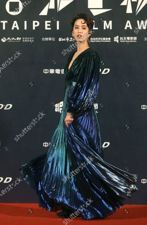 Taiwanese actress Annie Chen poses on the red carpet at the 2020 Taipei Film Festival in Taipei, Taiwan, . The 2020 Taipei Film Festival is the world's first large-scale film festival held by an entity after the outbreak of the COVID-19 epidemic