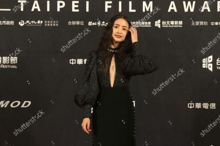Stock Photo of Taiwanese actress Ariel Lin poses on the red carpet at the 2020 Taipei Film Festival in Taipei, Taiwan, . The 2020 Taipei Film Festival is the world's first large-scale film festival held by an entity after the outbreak of the COVID-19 epidemic