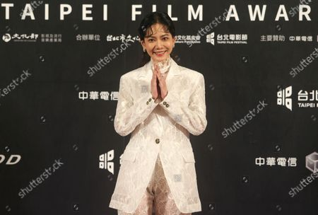 Stock Photo of Taiwanese actress Joanne Tseng poses on the red carpet at the 2020 Taipei Film Festival in Taipei, Taiwan, . The 2020 Taipei Film Festival is the world's first large-scale film festival held by an entity after the outbreak of the COVID-19 epidemic