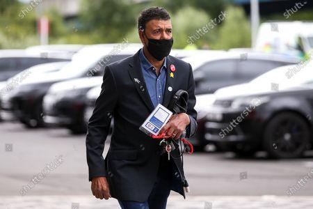 Stock Photo of Sky Sports Presenter Chris Kamara arrives at the Riverside Stadium to report on Middlesbrough v Bristol City