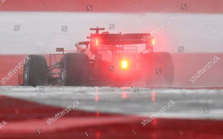 Ferrari driver Sebastian Vettel of Germany steers his car during the qualifying session for the Styrian Formula One Grand Prix at the Red Bull Ring racetrack in Spielberg, Austria, Saturday, July 11, 2020. The Styrian F1 Grand Prix will be held on Sunday. (Joe Klamar/Pool via AP)