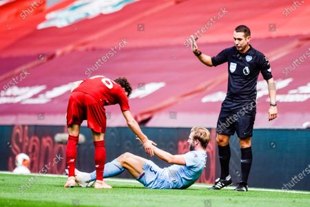 Editorial picture of Liverpool FC vs Burnley FC, Premier League, Football, Anfield, Liverpool, UK, 11.07.20