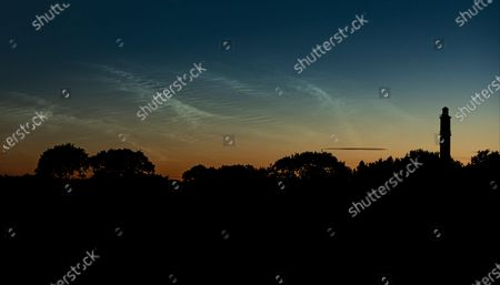 Noctilucent Clouds over Sway Tower, Sway, Hampshire