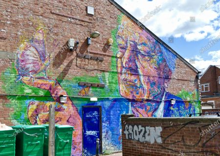 To honour the Cowley Road Carnival, local artist Andrew Mani Manson (The Big Orange M) has painted a huge portrait of Sir David Attenborough. The mural is on the side of East Oxford Games Hall and it is designed to honour the Cowley Road Carnival and its theme of ÔMother NatureÕ.