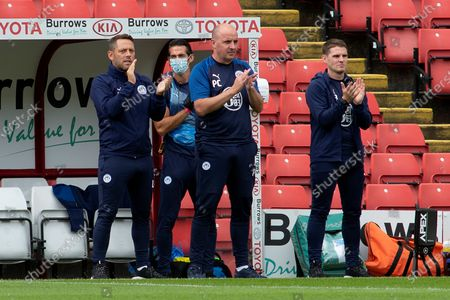 Wigan Athletic Manager Paul Cook during the EFL Sky Bet Championship match between Barnsley and Wigan Athletic at Oakwell, Barnsley