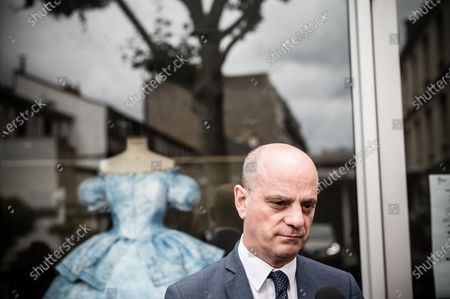 "Jean-Michel Blanquer (French Minister of National Education, Youth and Sports) went to the Lycee Paul Poiret, Paris, on July 10, 2020. This high school of arts, fashion and show welcomes as part of the ""summer of the Pro"" students for whom the period of confinement created the need for personalized support during the summer. Paris, France."