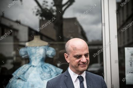 "Stock Picture of Jean-Michel Blanquer (French Minister of National Education, Youth and Sports) went to the Lycee Paul Poiret, Paris, on July 10, 2020. This high school of arts, fashion and show welcomes as part of the ""summer of the Pro"" students for whom the period of confinement created the need for personalized support during the summer. Paris, France."