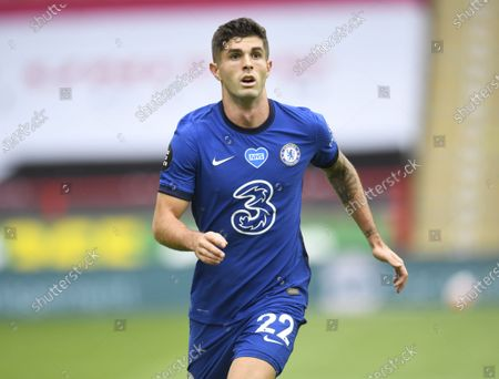 Christian Pulisic of Chelsea in action during the English Premier League match between Sheffield United and Chelsea in Sheffield, Britain, 11 July 2020.