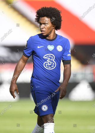 Willian of Chelsea in action during the English Premier League match between Sheffield United and Chelsea in Sheffield, Britain, 11 July 2020.