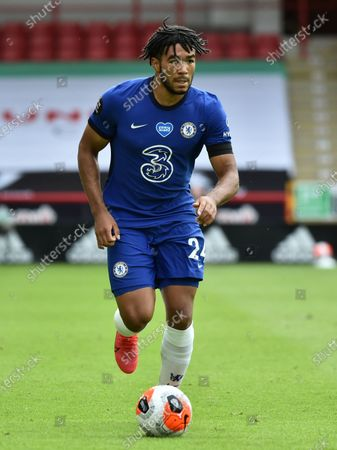 Reece James of Chelsea in action during the English Premier League match between Sheffield United and Chelsea in Sheffield, Britain, 11 July 2020.