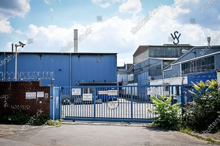 Stock Image of An exterior view of the production facility of precision pipe manufacturer Wilhelm Schulz in Krefeld, Germany, 11 July 2020. Investigators are pursuing charges of fraud against former CEO Wolfgang Schulz and seven other executives for falsifying invoices to boost the value of the company prior to its sale to Precision Castparts (PCC), a subsidiary of US investment giant Berkshire Hathaway. PCC bought the Lower Rhine tube specialist in February 2017 for around 800 million euros. In the meantime, it's suspected that the sellers around Wolfgang Schulz have massively embellished the sales figures for the sale.