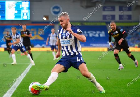 Brighton's Aaron Connolly in action during the English Premier League match between Brighton & Hove Albion and Manchester City in Brighton, Britain, 11 July 2020.