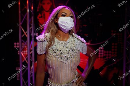 In order to raise awareness against the spread of the coronavirus, a mask is placed on the wax figure of Beyonce at Madame Tussauds attraction in Istanbul, . Turkish authorities have made the wearing of masks mandatory in most of the country to curb the spread of COVID-19 following an uptick in confirmed cases since the reopening of many businesses