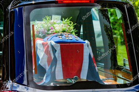 Editorial photo of Dame Vera Lynn funeral procession, Ditchling, Sussex, UK - 10 Jul 2020