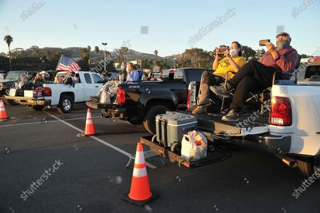 Stock Photo of Fans relax before the show at Concerts In Your Car, at the Ventura County Fairgrounds in Ventura, Calif
