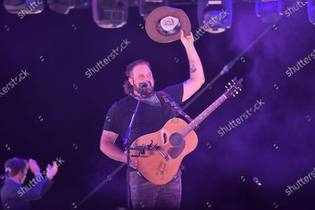 Stock Image of Randy Houser performs at Concerts In Your Car, at the Ventura County Fairgrounds in Ventura, Calif