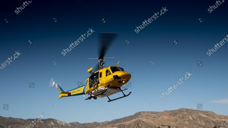 Ventura County Air Search and Rescue at Lake Piru head out on another search