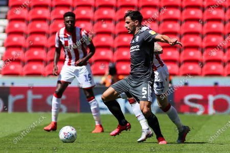 Maxime Colin of Birmingham City (5) during the EFL Sky Bet Championship match between Stoke City and Birmingham City at the Bet365 Stadium, Stoke-on-Trent